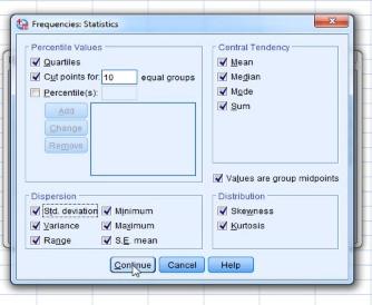 Frequencies Statistics